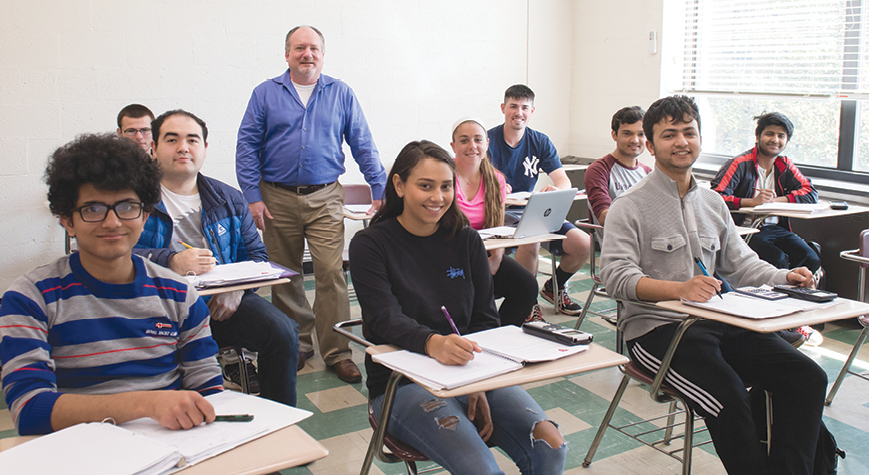 Students in Mathematics class