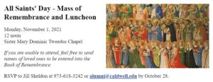 All Saints day mass image