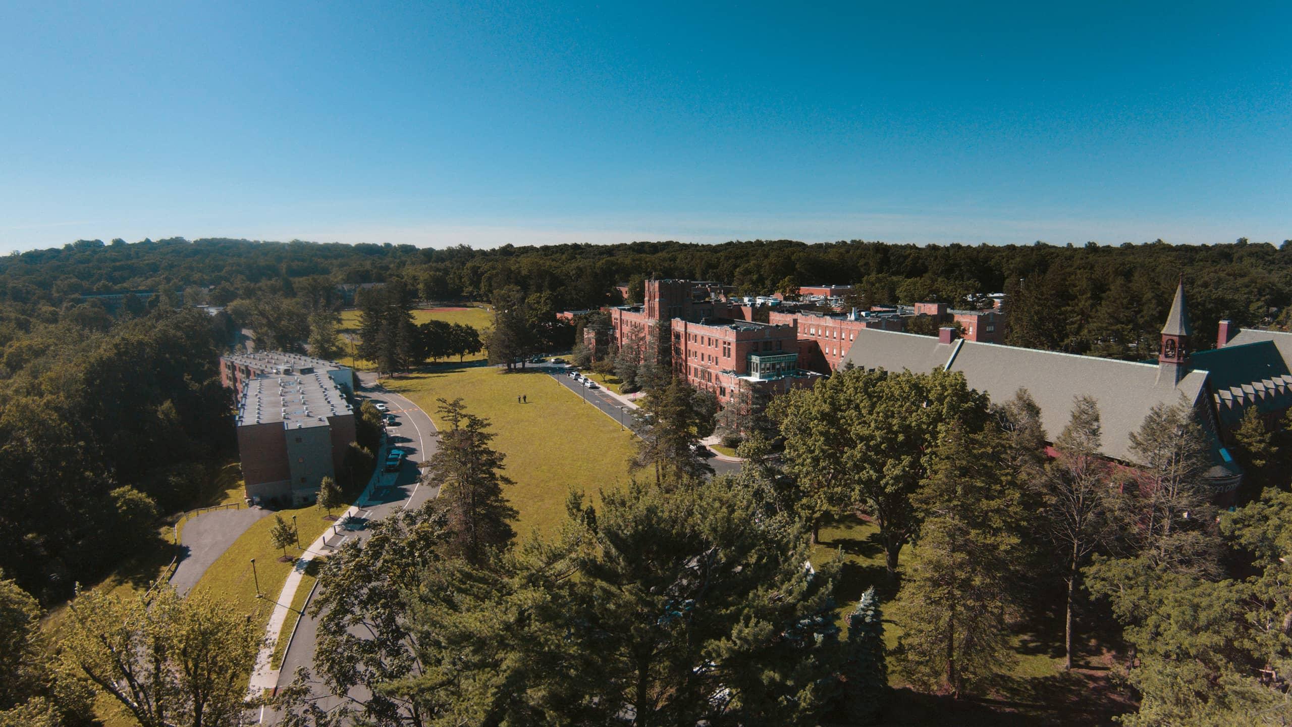 aerial campus image