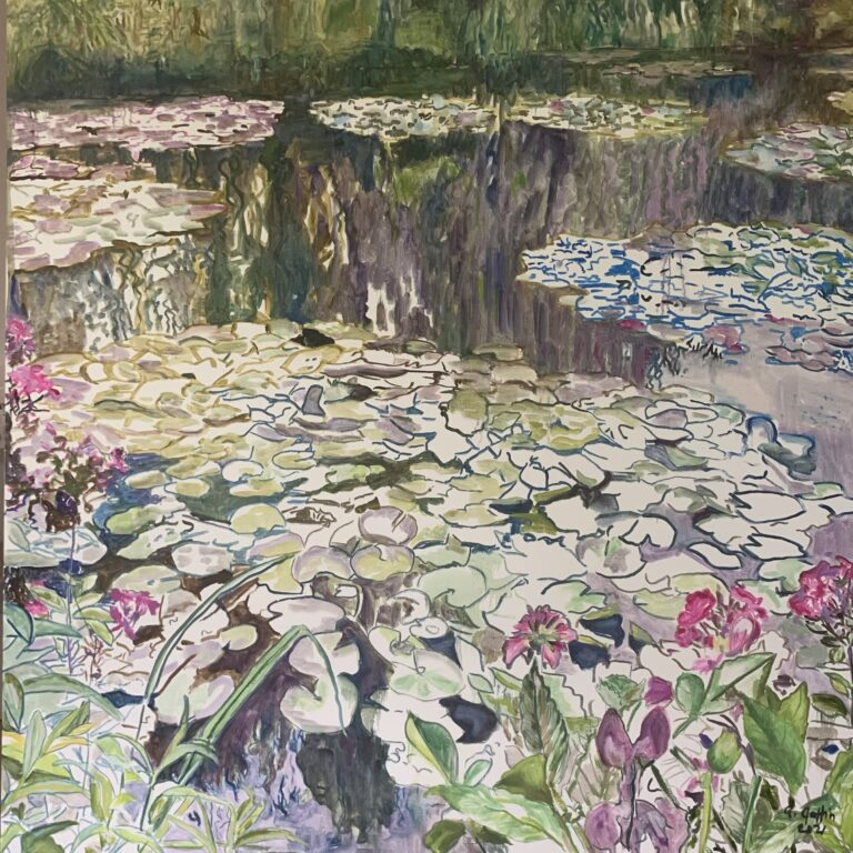 Anne Goffin Smith painting of flowers